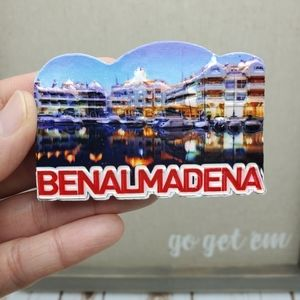 NEW 3D Fridge Magnet Benalmadena Spain Souvenir